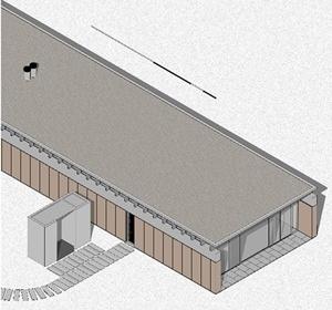 Casa Bunshaft - isométrica. Dibujo del autor