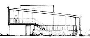 Fachada Casa de praia Miguel Latorre, Praia Grande [Família Cascaldi]