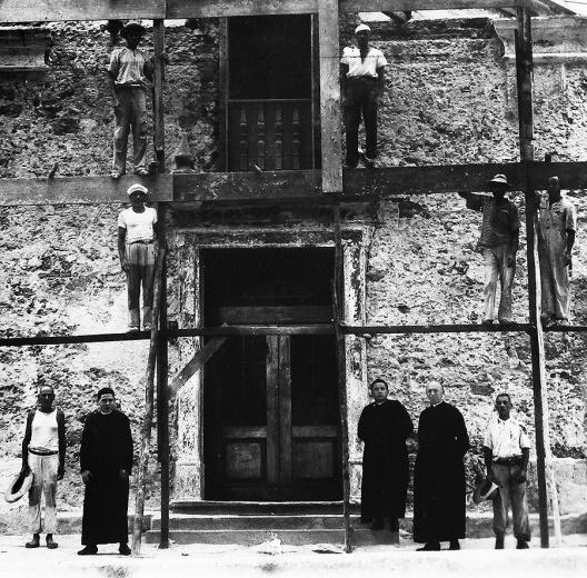 Restauração da Igreja de São Francisco Xavier, detalhe, Niterói RJ, 1937<br />Foto divulgação  [Arquivo Central do Iphan]