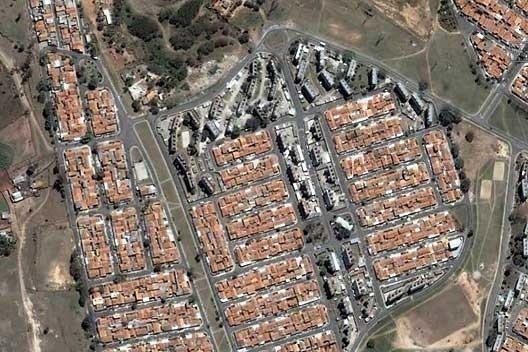 Conjunto Padre Manoel da Nóbrega, Campinas, 1974. Arquiteto Joaquim Guedes. [Google Earth]