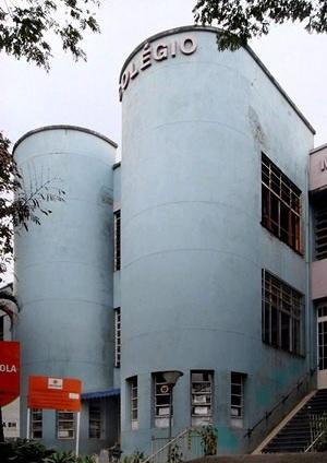 Colégio Municipal Marconi, Belo Horizonte. Bem tombado em nível municipal<br />Foto Andrea Zerbetto