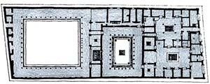 Casa do Fauno [adaptado de CHING, 1996, p. 367]
