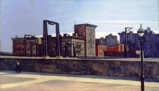 <i> Manhattan Bridge Loop </i>, Edward Hopper, 1928 [Addison Gallery of American Art]
