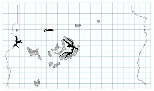 Mapa de ocupação territorial do Distrito Federal com tipos de morfologias<br />Imagem divulgação  [IPHAN. GT-Brasília: memórias da preservação do patrimônio cultural do Distrito Federal]