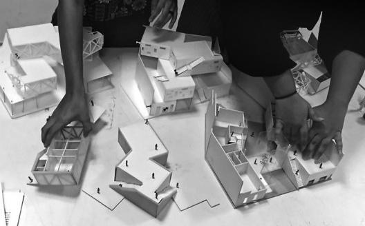 Projeto, maquetes, alunos I. Simões e J. Pereira, segundo 2016<br />Foto divulgação  [Acervo dos autores]