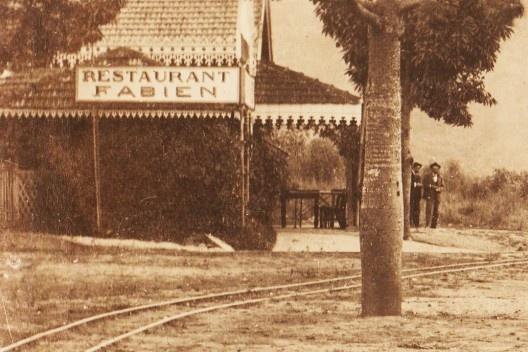 Chegada de um trem na estação da Cantareira, detalhe, c.1895<br />Foto divulgação  [Acervo pessoal]