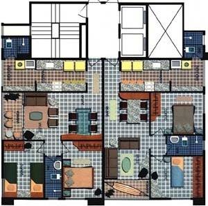 Figura 08 – Edifício Tamari, pavimento tipo [prospecto promocional da Hábil Engenharia Ltda]