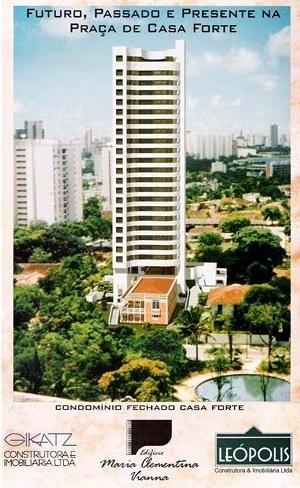 Figura 18 – Prospecto promocional do Edifício Maria Clementina Vianna, Praça de Casa Forte, nº 445. Construtora Gikatz
