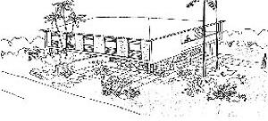 Residência Claudino, Acácio Gil Borsoi, 1956
