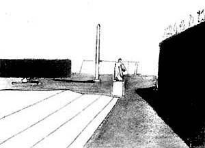 """Louis I. Kahn, croqui de viagem, """"Roma"""", 1950 [DEVILLERS, Charles et alli. Op. cit., p. 26]"""