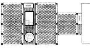 Planta de fôrmas da Galeria de Arte da Universidade Yale [LOUD, Patricia Cummings. Op. cit., p. 76]