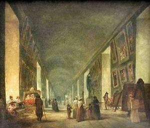 Grande Galeria do Louvre. Pintura de Hubert Robert. Paris, Museé du Louvre [LOUD, Patricia Cummings. Op. cit., p. 21]