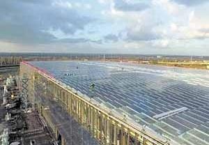 Techo del invernadero de células fotovoltaicas