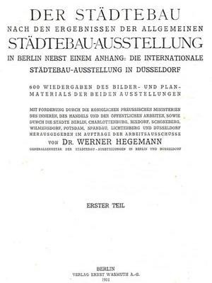 Catálogo da Exposição de Berlim e Dusseldorf, de 1910/ 1911 [HEGEMANN, 1911]