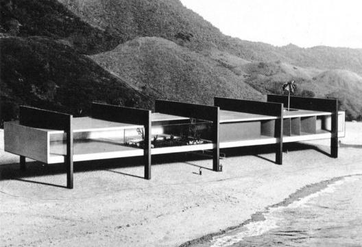 Museu à Beira do Oceano, projetado para a cidade de São Vicente, SP, 1951