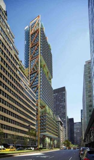 Edifício Park Avenue 425, projeto finalista do concurso, Arquiteto Richard Rogers (Rogers Stirk Harbour & Partners) [site www.e-architect.com]
