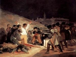 Execução de 3 de Maio de 1808. Franscisco de Goya y Lucientes, 1814. Museu do Prado, Madri