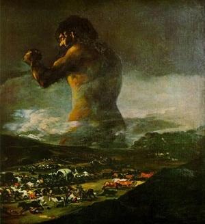 Colossus. Francisco Goya y Lucientes, 1808-12. Museu do Prado, Madri