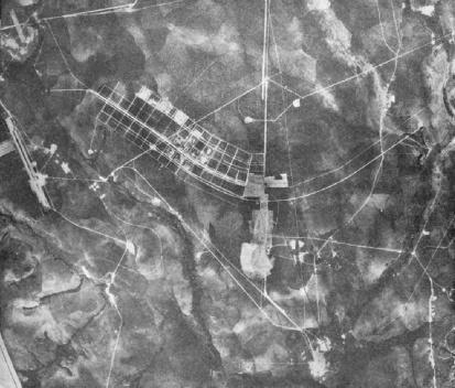 Vista do ceu do Plano Piloto de Brasília em construção [Acervo Fundação Oscar Niemeyer]