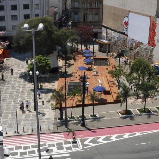 Largo São Francisco, situação depois da intervenção urbana, São Paulo<br />Foto divulgação  [gestadourbanasp]