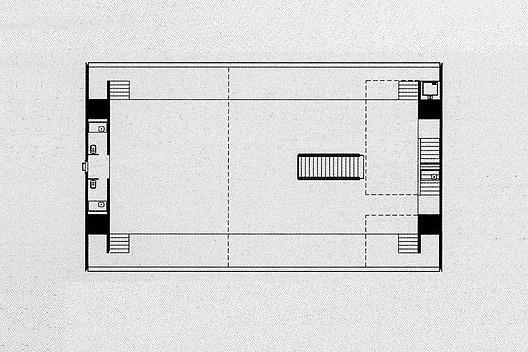 Loja Forma, planta primeiro piso, São Paulo, 1987. Arquiteto Paulo Mendes da Rocha<br />Imagem divulgação  [PIÑÓN, Helio. Paulo Mendes da Rocha. São Paulo, Romano Guerra Editora, 2002]