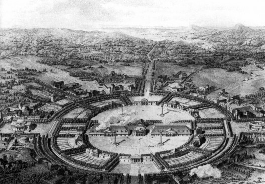 Salina Real de Arc-et-Senans, 1804, arquiteto Claude-Nicolas Ledoux<br />Imagem divulgação  [wikimedia commons]