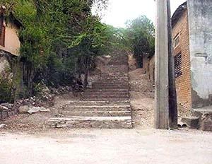 Arranque de la escalinata