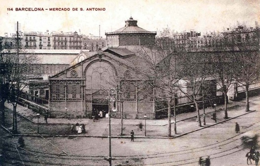 Manzana del mercado de Sant Antoni finales del S XIX principios del SXX. Adquirida en el mercado dominical del LLibre Vell del mercado de Sant Antoni de Barcelona en mayo de 2009.