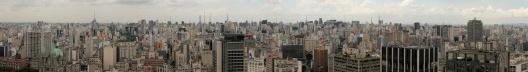 Vista panorâmica da cidade de São Paulo<br />Foto Jonathan Olsson  [Wikimedia Commons]