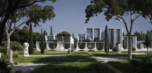 Concurso New Cyprus Museum, 2015, Zaha Hadid Architects<br />Imagem divulgação  [Desenho de MIR]