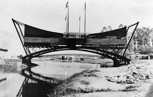 Pavilhao CSN no Parque do Ibirapuera, São Paulo. Arquiteto Sérgio Bernardes, 1954 [Acervo Família Sérgio Bernardes]