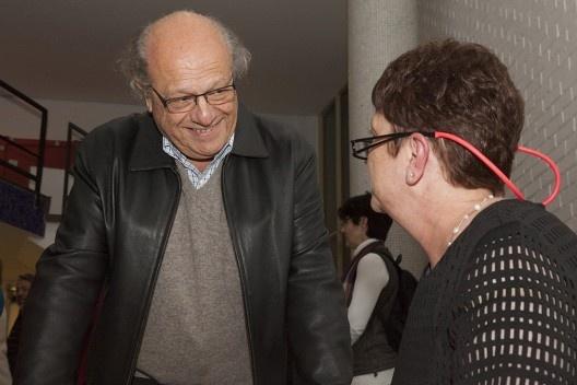 """Lúcio Gomes Machado e Helena Ayoub, festa de lançamento do livro """"Abrahão Sanovicz, arquiteto"""", IAB/SP, 22 ago. 2017<br />Foto Fabia Mercadante"""