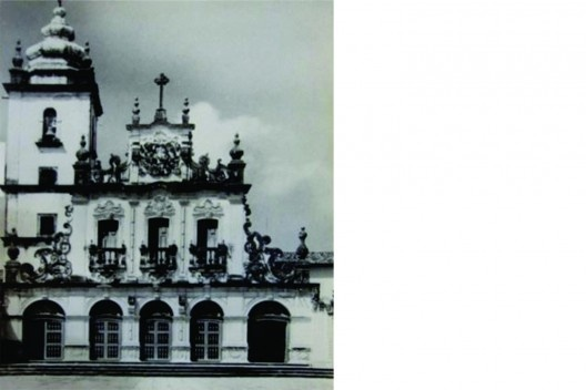 Fachada principal do Convento de Santo Antônio ou São Francisco, João Pessoa PB, década de 1960<br />1o, Classe 33.01 (1)  [Iphan Recife]