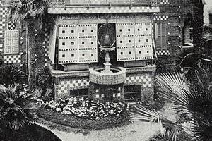 Fig. 3 - Fonte da Casa Vicens, com a tela metálica por onde baixava a água, produzindo-se cintilações no interior da casa [Cátedra Gaudí, Barcelona]