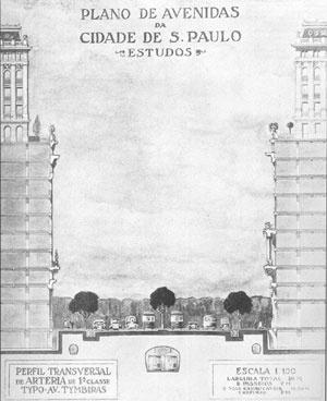Corte esquemático da via e edificações [TOLEDO, op. cit.]