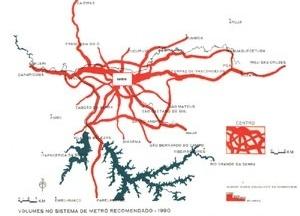Plano Urbanístico Básico – PUB, malha de metrô com simulação de carregamento