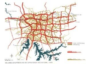 Plano Urbanístico Básico – PUB, malha viária com simulação de carregamento