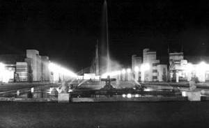 Fonte Luminosa na I Feira Nacional da Indústria