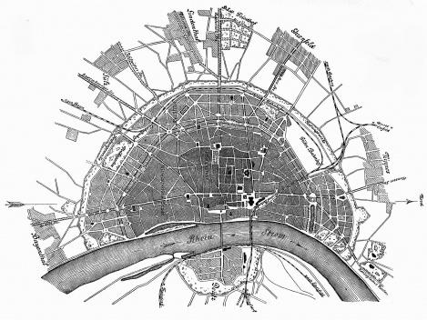 Plano de Stübben para Colônia, 1880 [STÜBBEN, 1890]