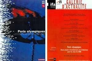 À esquerda, capa do livro. À direita, convite para a exposição frente e verso