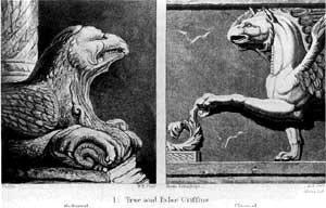 Grifos verdadeiro e falso, Veneza, 1851-1853, John Ruskin
