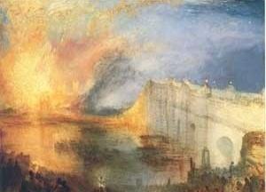 O incêndio da Casa dos Lordes e dos Comuns, 1834, William Turner