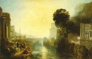 Dido construindo Cartago; ou A ascensão do império cartaginês, 1815, William Turner