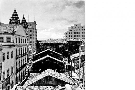 Rua das Trincheiras, torres da Igreja Matriz de Santo Antônio e coroamento do edifício Sulacap, Recife PE, 1940<br />Foto Benicio Whatley Dias  [Fundaj, ME]