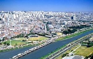 Reurbanização no Rio Tietê<br />Fotomontagem de Humberto Buso