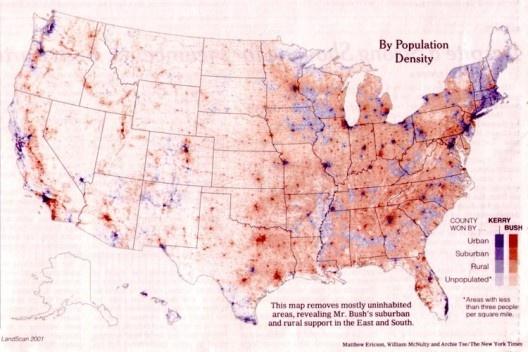 As metrópoles votam nos liberais, democratas, independentemente dos estados [SPERLING, 2004]