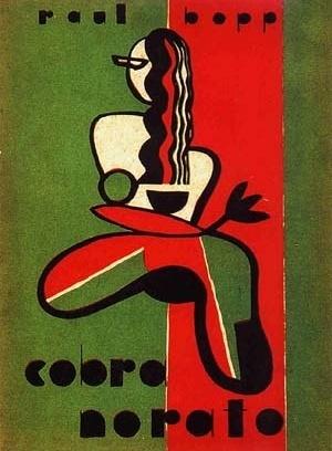 """Raul Bopp, """"Cobra Norato (Nhengatú da margem esquerda do Amazonas)"""", 1ª edição, 1931, capa do livro de Flávio de Carvalho [Coleção Rui Moreira Leite]"""