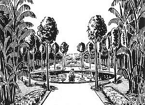 """Roberto Burle Marx, """"Jardim da Casa Forte"""", perspectiva axial, Recife,1935 [Acervo Escritório Burle Marx]"""