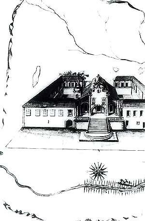 Foto tirada do desenho original enviado à Portugal pelo Irmão Lourenço [Reprodução autorizada de slide feito pelo Prof. Ivo Porto de Menezes na década de 70]