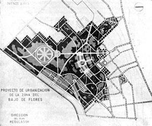 Projeto de urbanização do bairro Baixo Flores por Della Paolera, 1939